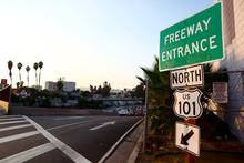 US Route 101 Freeway Entrance ...