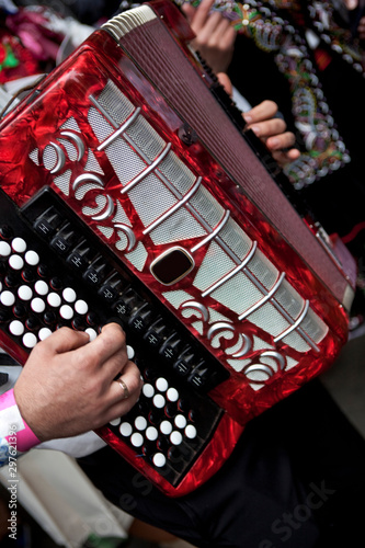Fotografie, Tablou  Accordionist in the street