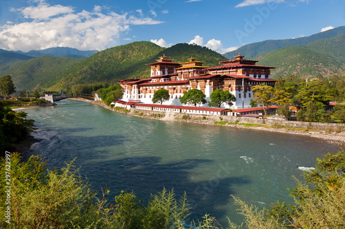 Photo Punakha Dzong or monastery, Punakha, Bhutan