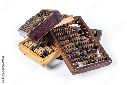 Photo Old wooden abacus
