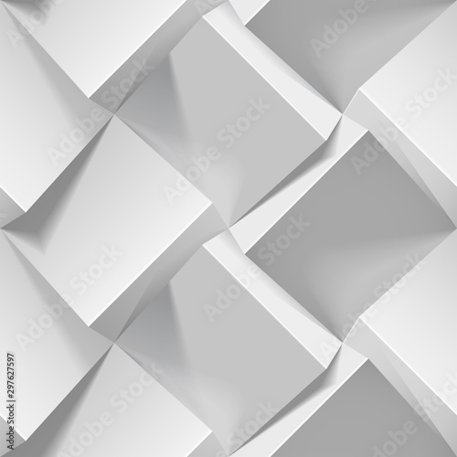 light-seamless-geometric-pattern-realistic-3d-cubes-from-white-paper-vector-template-for-wallpapers-textile-fabric-wrapping-paper-backgrounds-abstract-texture-with-volume-extrude-effect