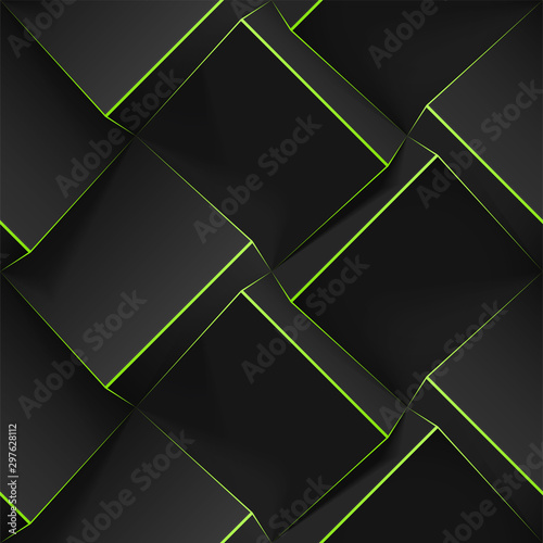 Fotomural Dark seamless geometric pattern