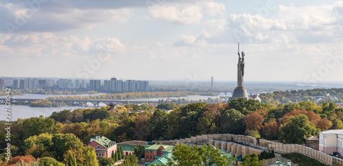 Keuken foto achterwand Oude gebouw Aerial view on Kyiv city