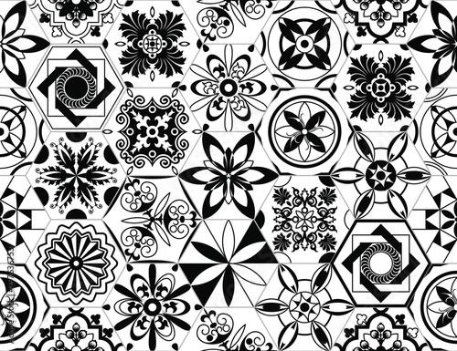 portuguese-vector-tiles-pattern-lisbon-seamless-black-and-white-tile-design-azulejos-vintage