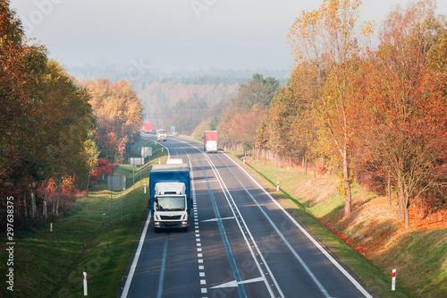 Autostrada i samochody Canvas Print