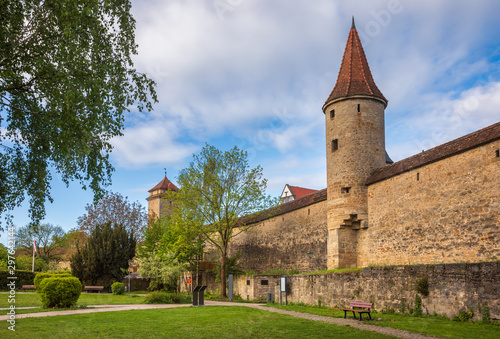 Rothenburg ob der Tauber City wall Bavaria Germany Wallpaper Mural