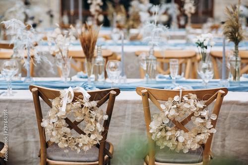 Fotografija Amazing wedding table decoration & wedding table setting