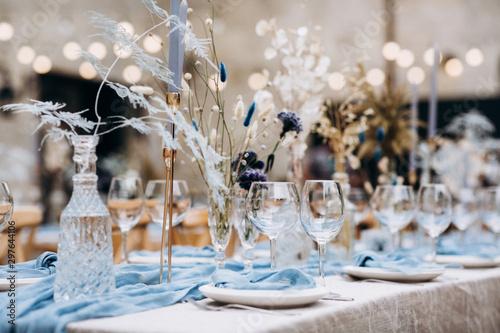 Amazing wedding table decoration & wedding table setting Fototapete