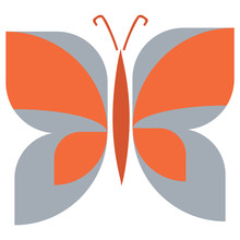 Abstract Butterfly Vector Illu...