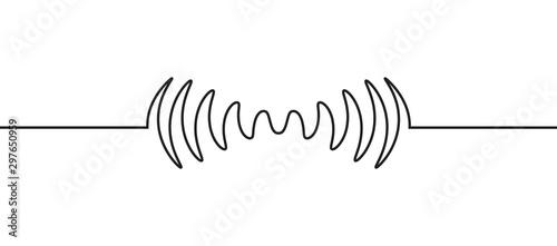 Fototapeta Audio sound wave music waveform