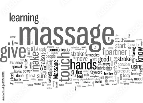 Photo How to Give a Massage