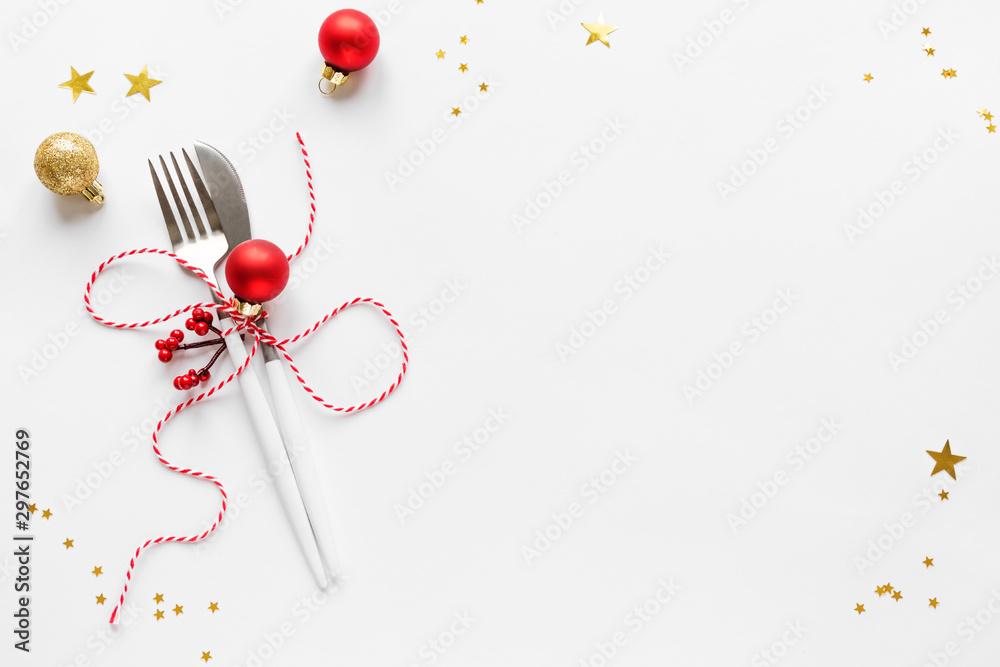 Fototapety, obrazy: Christmas Table Setting