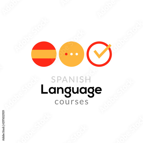 Photo Spanish language school logo course concept