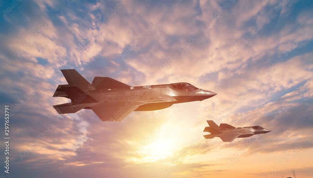 Fototapeta air combat fighter secne background photo