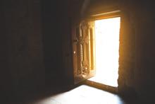 Church Door With Light Backgro...