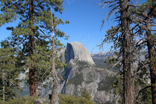 Glacier Point, an overlook with a commanding view of Yosemite Valley, Half Dome, Wallpaper Mural