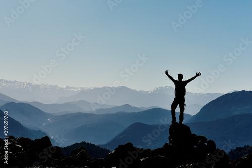 Fotografia, Obraz a proud stance and peace for a successful person