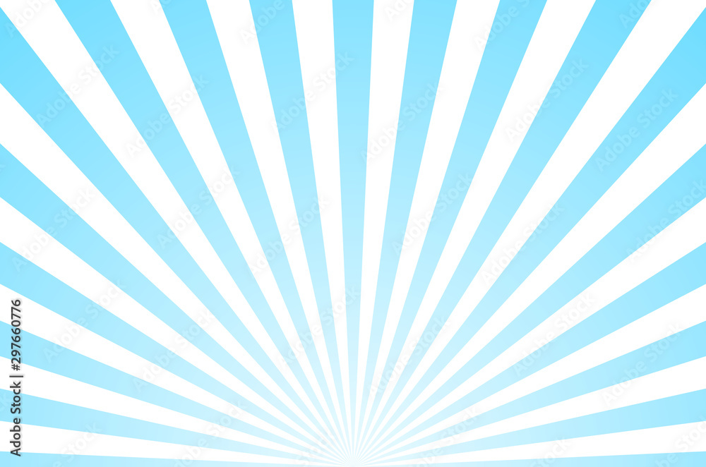 Fototapeta Sun ray retro background vector burst light. Sunrise or sunset retro design