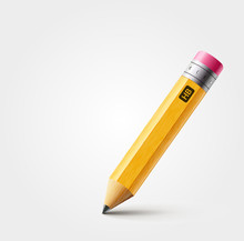 Vector Short Yellow Pencil, Re...
