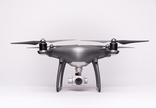 Dark Drone On A Gray Backgroun...