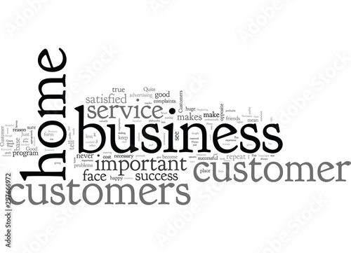 Home Business And Customer Service Is It Necessary Canvas Print
