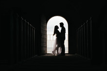 Silhouette Of Loving Couple Hu...
