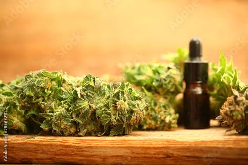Medical marijuana cannabis cbd oil Canvas Print