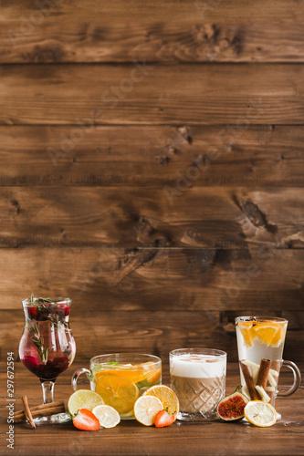 Foto auf Leinwand Alkohol variety of restaurant dishes of national Georgian Armenian and Azerbaijani cuisine