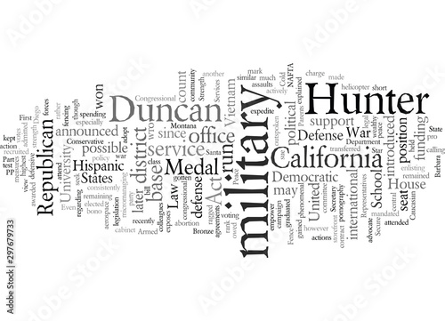 Duncan Hunter Republican Canvas Print