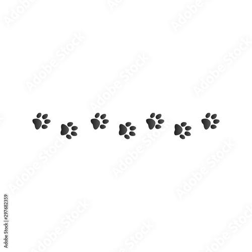 obraz lub plakat animal paw prints, Stock Vector illustration isolated on white background.