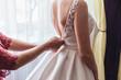 canvas print picture - bride in white wedding dress