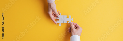 Conceptual image of teamwork and cooperation Wallpaper Mural