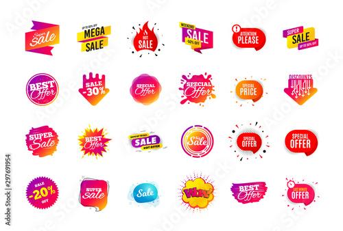 Fotografía  Sale banner badge