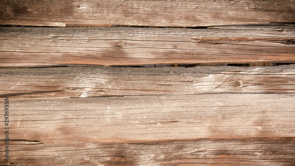 Fototapety, obrazy: old brown rustic light bright wooden texture - wood background
