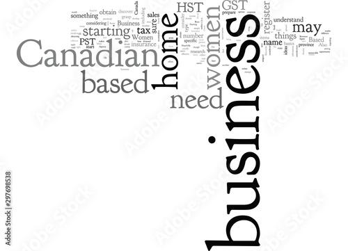 Fotografie, Tablou  Canadian Women Home Based Business