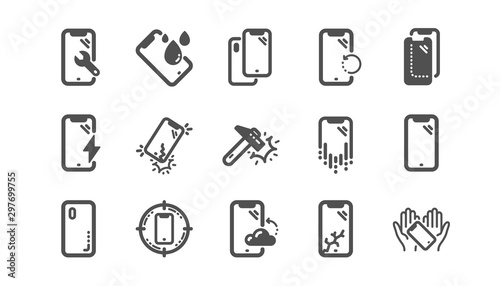 Smartphone protection icons Fototapete