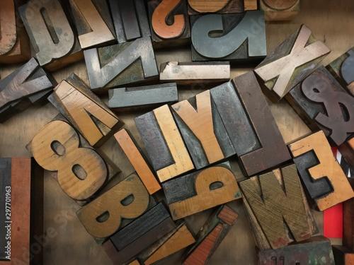 Fotografía  Woodtype for Letterpress