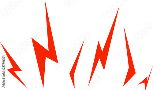 фотография Simple Lightning Thunder Bolts Illustration