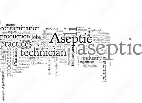 Valokuva Aseptic Technician Jobs Require Specific Experience Of Aseptic Techniques