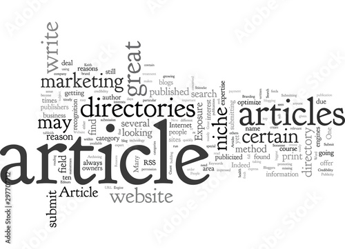 Obraz Article Directories Ten Great Reasons To Submit Articles To Them by Keith P Stieneke - fototapety do salonu