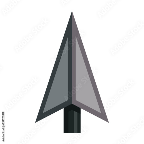 Photo Grey Vector 3D Arrowhead