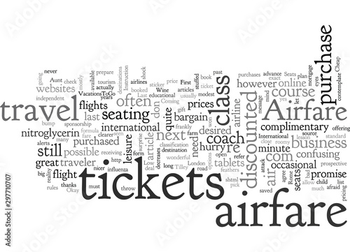 Photo Airfare for the Wayfarer