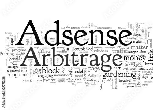 Adsense Arbitrage For Money Canvas Print