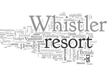 A Tourist Guide To Whistler