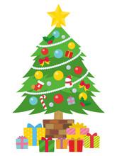 クリスマスツリーとプレゼントボックス