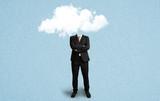 businessman with a cloud as a head