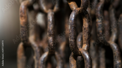 rusty chain on background Canvas Print