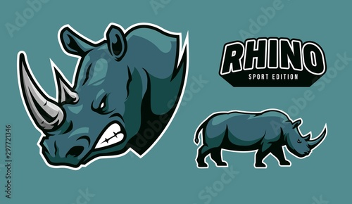 Fototapeta rhino icon sport for company