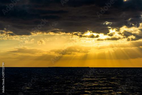 Fotografija  Sunset in the Caribbean sea, Tunas de Zaza, Cuba