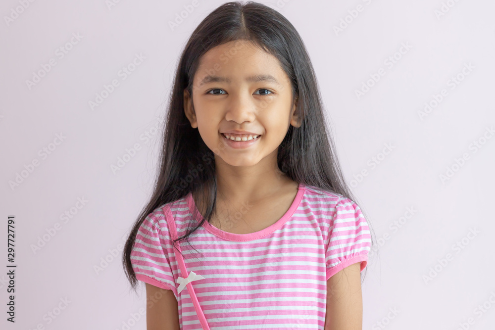 Fototapety, obrazy: Portraits of cute Asia kid with happiness.